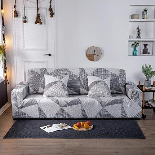 ASCV Housses de canapé en Tissu épais pour Salon épaissir Moderne Housse de canapé d'angle élastique Housses de Protection A1 4 Places