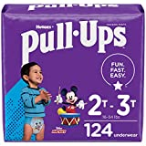 Pull-Ups Boys' Potty Training Pants Training Underwear Size 4, 2T-3T, 124 Ct, One Month Supply