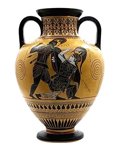 greekartshop Generico Anfora Achille Uccisione Penthesilea Vaso Greco Antico Museo della Ceramica Copia 530 BC