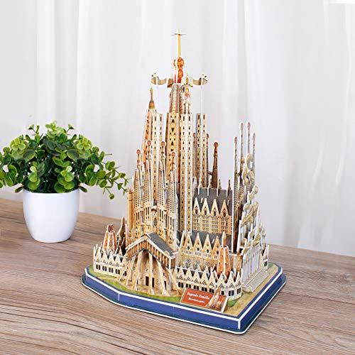 Revell 3D Puzzle 00206 Sagrada Familia, die Basilika ist das meistbesuchte Wahrzeichen Spaniens (Barcelona) Die Welt in 3D entdecken, Bastelspass für Jung und Alt, farbig