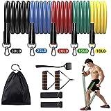 WAY Lot de 11 bandes de résistance, élastiques d'exercice portables, accessoires d'entraînement à la maison pour entraînement de résistance, gym, physique.