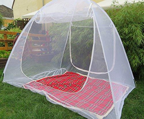 Schramm® Moskitonetz mobil 200x180x155cm Mückenschutznetz Baldachin Insektenschutz Fliegengitter Mückennetz Betthimmel Pop up Zelt