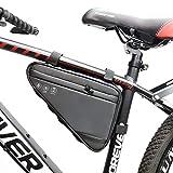 Terremon - Bolsa triangular para bicicleta, impermeable, con marco para bicicleta, bolsa de herramientas, tela Oxford resistente al desgarro, bolsa triangular para bicicleta de montaña