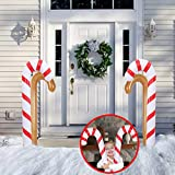 SALE & CLEARANCE 34.2inch Christmas Inflatable Candy Canes Balloons Decorations, 1/2PCS Blow Up Indoor Outdoor Inflatable Xmas Candy Canes Cosplay Decor Toys for Yard Lawn Patio Garden Party (1PCS)