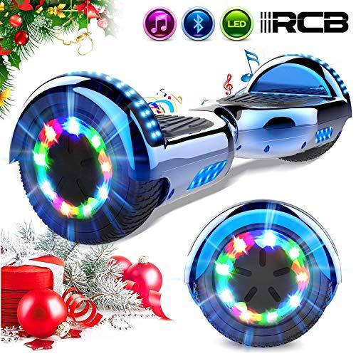 RCB Scooter Elettrico 6.5 inch con LED Bluetooth su Ruote Brillante Auto...
