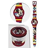 Star Licensing Orologio Topolino Mickey Mouse Disney da Polso ANALOGICO CONF. CM 24 - 50581ROSSO