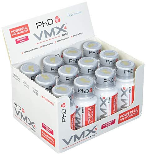 PHD VMX2 Shots Raspberry Rush, 12 x 60 ml