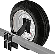 Biltek Spare Tire Carrier for Boat and Utility Trailer Spare Tire Mount Fits 4 or 5 Lug Wheel No-Drill Bracket