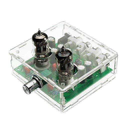 SODIAL CA 12V 6J1 valvola Pre-Amplificatore valvolare preamplificatore Consiglio Cuffia Caso separatore per Amplificatore