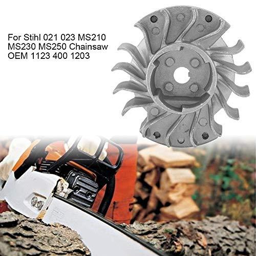 Lawn Mower Flywheel, Steel Flywheel Puller, Flywheel Fit for Stihl 021 023 MS210 MS230 MS250 Chainsaw OEM 1123 400 1203