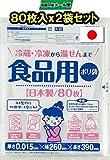 ワタナベ工業 ポリ袋 食品用ポリ袋 80枚入X2冊合計160枚セット 半透明 R-26