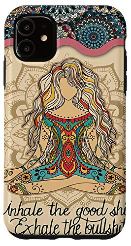 iPhone 11 Yoga Woman Namaste Yoga Lady Hippie Case