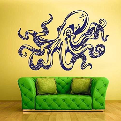 Leeypltm Kreativer Oktopus-Wandaufkleber, abnehmbare Wandaufkleber, wasserdichte Tapete, für TV-Hintergrund, Dekoration, Wandbild, Heimdekoration, Geburtstagsgeschenk für Jungen und Mädchen