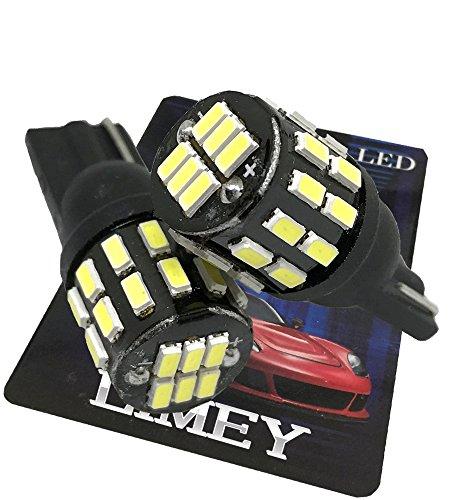 LIMEY 新型 爆光 T10 LED ポジション レッド赤 30連 このサイズで驚きの明るさ 3014SMD 無極性 ハイマウン...