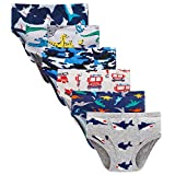 Boboking Little Boys Briefs Dinosaur Truck Toddler Kids Underwear (Pack of 6) 5/6Y Mixed Color