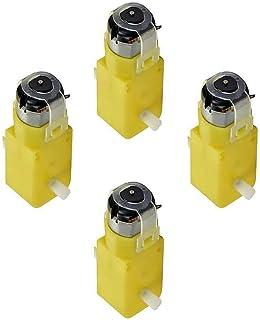JZLiner DC Gear Motor TT Electric Motor Dual Shaft for Smart Car Robot Arduino (Pack of 4)