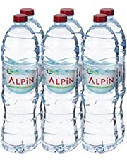 ALPIN Alkaline Low Sodium Mineral Water Special Offer Pack, 1.5 Litre (Pack of 6)