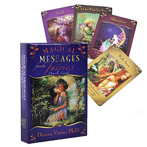 RLFDC Seer Tarot-Karten-Set, Universal-Weinlese Divination, Weissagungs Game Card, Fate Forecasting, Zuneigung, Beruf, Studium, Glück, Heirat,Magical Messages from Fairies