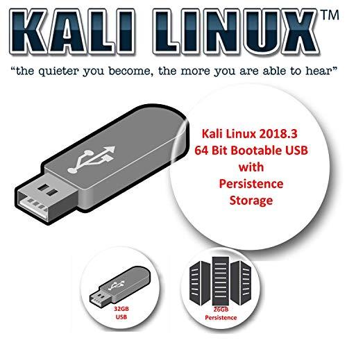 Kali Linux 2018.3 su USB da 32GB con volume di persistenza da 26GB per i test di penetrazione