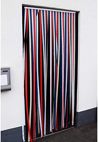 My-goodbuy24 Türvorhang Insektenschutz Insektenschutzvorhang Tür Vorhang Fliegengitter Lamellenvorhang Polyester - selbstklebend 210 x 90 cm (210x90 cm)