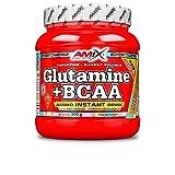 Amix - Glutamina + Bcaa - Suplemento Alimenticio - Mejora del Rendimiento - Contiene Aminoácidos Bcaa - Glutamina en Polvo - Nutrición Deportiva - Sabor a Mango - Bote de 300 g