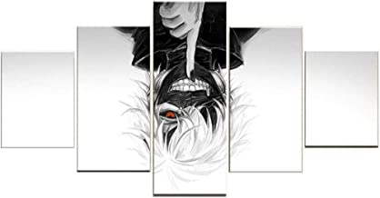 OKDIY Tokyo Ghoul Poster Ken Kaneki Anime for Wall 5 Panels Painting on Canvas