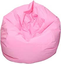 Alician Waterproof Stuffed Animal Storage/Toy Bean Bag Solid Color Oxford Chair Cover Large Beanbag(filling is not included) Pink 60X65CM
