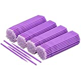 Akstore 400 PCS Disposable Micro Applicators Brush Eyelash Extension Individual Applicators Mascara Brush for Make up and Clean and Compatible and Personal Care (Purple)