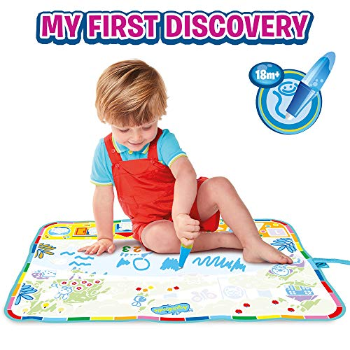 Aquadoodle My First Discovery (Roll n Go) Water Doodle Mat, Official TOMY No Mess Colouring & Drawing Game, Suitable for Toddlers and Children, Boys & Girls from 18 Months+