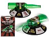 Bada Bing Trinkspiel Flaschendrehen Spiel Spin to Drink Lustiges Partyspiel Flaschen Drehen Spaß JGA Geschenk Party 26