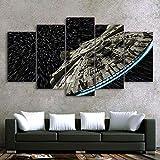 BIHUAHE Wandbilder Segeltuch gedruckt Star Wars Zerstörer
