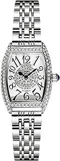 Women's Easy to Read Retractable Quartz Analog Steel Band Watch