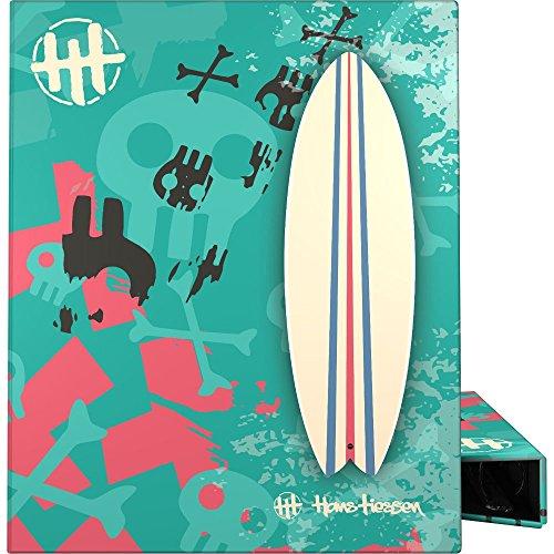 Grafoplás 88141935-Carpeta con recambio de hojas y separadores, 4 anillas 25 mm, CarpePlús modelo Surf de Hans Tiessen