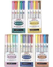 Zebra Mildliner markeerstift penset, 25 Pastel Color set