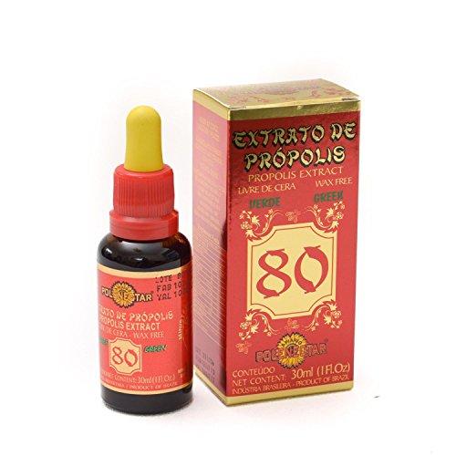 1 Case (24 Bottles) of Polenectar Brazil Propolis Extract Wax Free 80 (30ml)