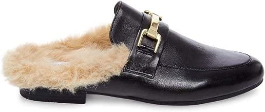 fur loafer slides