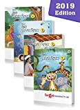 Hindi Language Learning Books for Kids (Gyanvatika) | Level 1 to 4 Workbook | Comprises of Hindi Poems and Stories with Pictures, Alphabet / Varnamala, Barakhadi, Numbers in Words and Other Activities