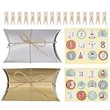 PRETYZOOM 24 Set Navidad Calendario de Adviento Bolsas de Regalo Caja de Dulces Caja de Regalo Bolsa de Regalo Caja de Panadería Cajas Decorativas Navideñas Cajas de Envoltura de Regalos