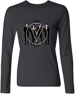 Women's The Vamps British Band 2015 Tour Logo Long Sleeve T-Shirt