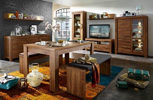 Froschkönig24 Gent 2 Wohnzimmer Komplettset Wohnzimmerkombination Wohnwand Akazie dunkel