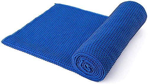 XHCP Exercise matYoga Matyoga Thicken Towel, Microfiber Sweat Absorbent  Quick Dry Mat Towel - Ideal for Hot, Pilates, Machine wash, 183 * 63cm