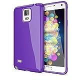 NALIA Custodia compatibile con Samsung Galaxy Note 4, Protezione Ultra-Slim Case Cover Protettiva Morbido Cellulare in Silicone Gel, Gomma Jelly Telefono Bumper Sottile - Viola