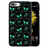 iPhone 7 Plus 8 Plus Case Alien Soft Black TPU Rubber and PC Anti-Slip Grip Cover Case, Shockproof Defend Protective Phone Case for iPhone 7 Plus 8 Plus