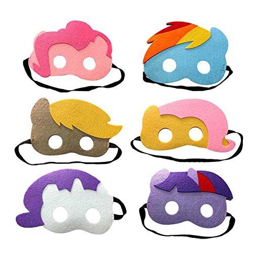 Lemonkid® Kinder Halloween My Little Pony Maske für Masquare Cosplay Party Gr. One size, Set6