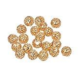 BENECREAT 30 PCS Placcato 18K Oro Reale Perline per Gioielli Artigianali Fai da Te Accessori Perline Lunghe in Ottone Color Oro, 8x3mm Sfera Cava
