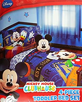 Disney Mickey Mouse 4pc Toddler Bedding Set   Genuine Licensed