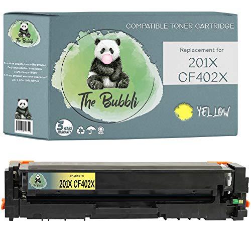 The Bubbli Original   201X 201A Tóner Compatible para HP Color Laserjet Pro M252dw M252n MFP M274n M277dw M277n (Amarillo)
