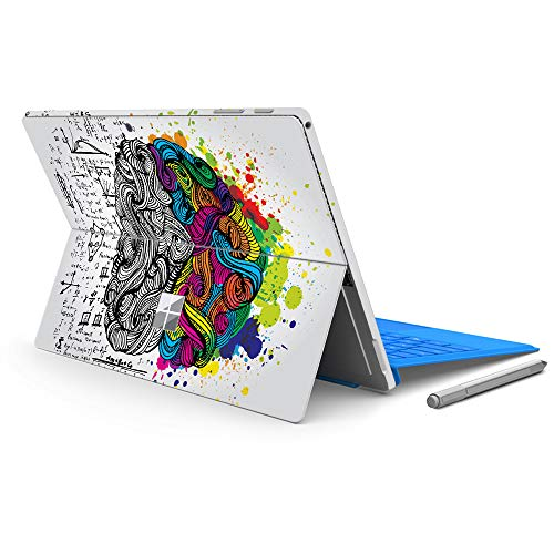 """MasiBloom Laptop Decal Sticker for 12.3"""" Microsoft Surface Pro 6 2018 & New Surface Pro 2017 & Pro 4 Anti-Scratch Vinyl Protective Cover Skin (for Surface Pro 6/ Pro 5/ Pro 4, Brain)"""