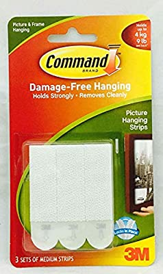 Command 3M Strips Hooks Decorating Damage Free Picture Poster Hanging All Purpose Use Utility Photo Decoration Hook