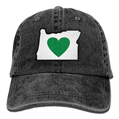 asagooder Heart In Oregon Vintage Jeans Baseball Cap Outdoor Sports Hat for Men and Women